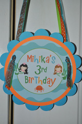 Happy,Birthday,Door,Sign,with,Personalized,Name,-,Under,The,Sea,1st birthday, personalized, happy birthday, party decorations, door sign, party sign, welcome sign