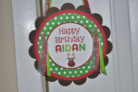 Reindeer,Birthday,Party,Sign,-,Holiday,,Winter,Decorations,Christmas,1st birthday, personalized, happy birthday, party decorations, door sign, party sign, welcome sign