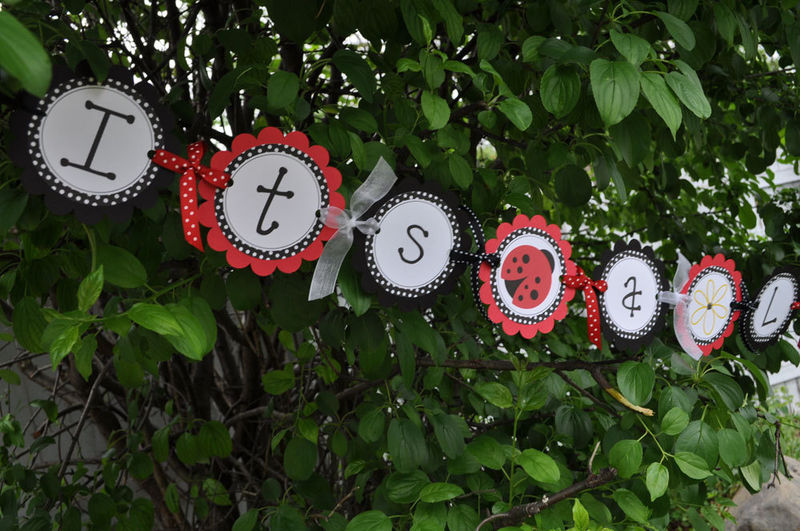 baby shower or birthday party door sign ladybug theme party decorations product