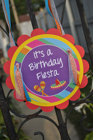 Birthday,Party,Door,Sign,-,Fiesta,Girls,or,Boys,Decorations,1st birthday, personalized, happy birthday, party decorations, door sign, party sign, welcome sign