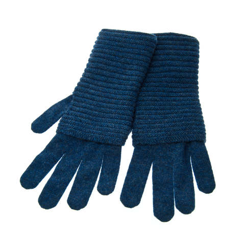 The,Wonder,Gloves,-,HEATHERED,BLUE,The Wonder Gloves Cashmere Kaschmir Heathered Blue Blau Meliert Handschuhe