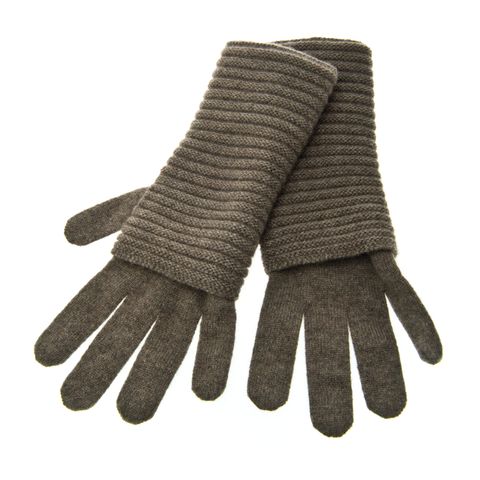 The,Wonder,Gloves,-,HEATHERED,LEGNO,The Wonder Gloves Cashmere Kaschmir Heathered Legno Handschuhe