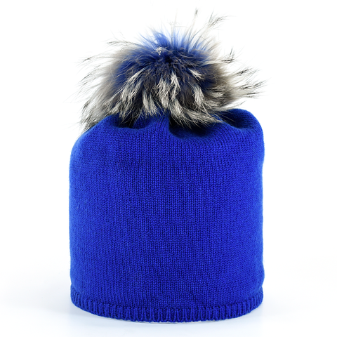 Star,Beanie,with,Fur,Pompon,-,Blitz,Blue