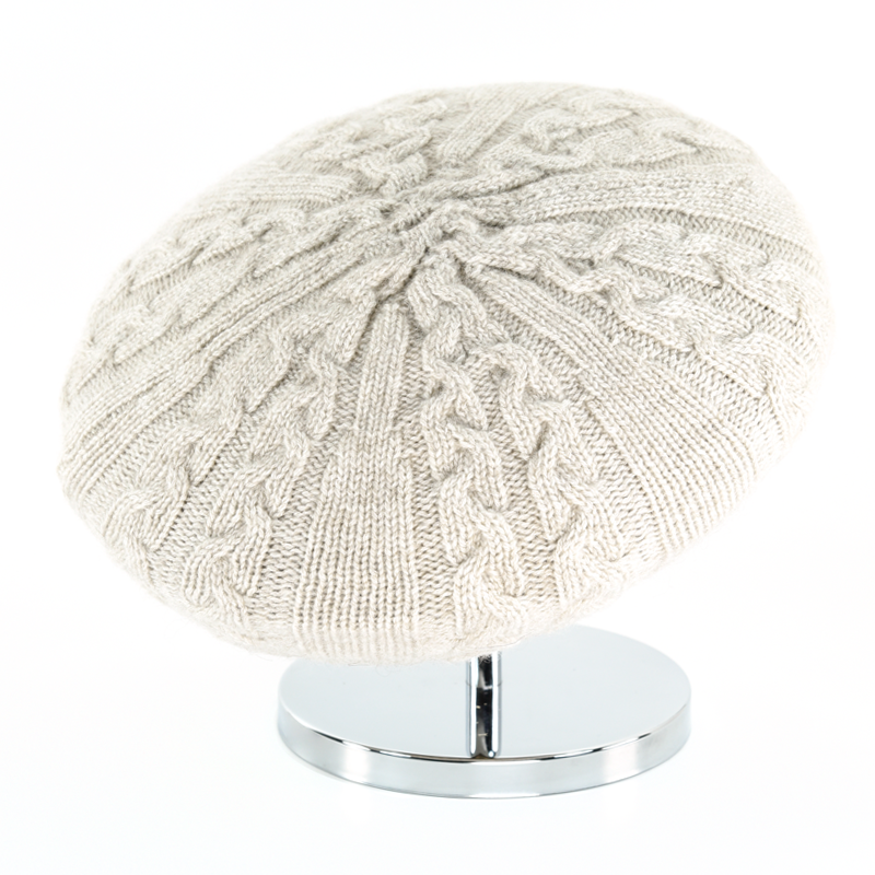 Cable Beret - Beige - product image