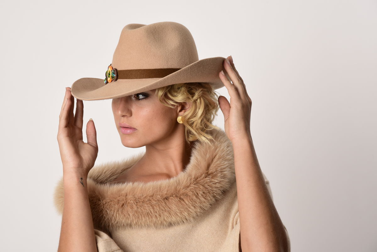 The J& Cowboy Hat - Palomino Velour - product images  of