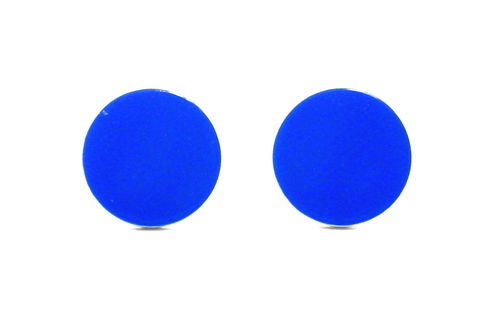 Flat,Disc,Earrings,for,Men,Cool,Blue,Studs,Guys,Aluminum,Circle,Discs,12mm,blue earrings for men guys teens, cool blue studs for men, flat disc earrings, cool studs for guys, faux gauge earrings, faux plugs, blue circle earrings, blue circle studs