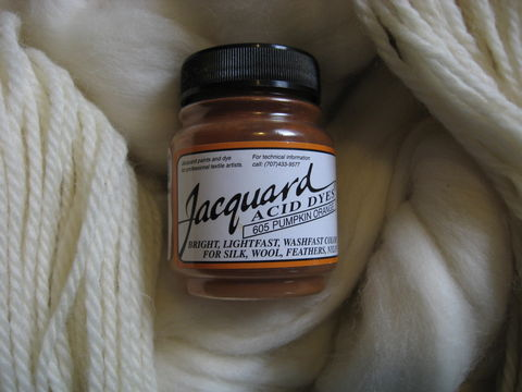 Jacquard,Acid,Dye,,Pumpkin,Orange,605,,for,Wool,,Silk,,,Feathers,,Nylon,,and,Other,Protein,Fibers,Dye, acid dye, acid wool dyes , pumpkin orange, synthetic dye, protein fiber dye , Jacquard dye, Jacquard , Jacquard Pumpkin Orange , Jacquard acid dye, vinegar dye, fiber dye, BrushCreekWoolWorks, Brush Creek Wool Works