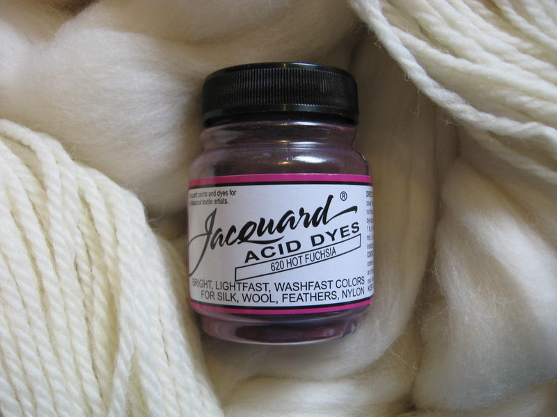 Jacquard Acid Dye, Hot Fuchsia 620, for Wool, Silk , Feathers, Nylon, and Other Protein Fibers - product images  of
