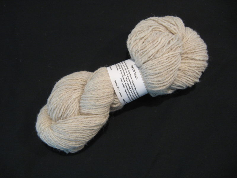 Jacob Wool Yarn, Natural Color Off White - product images  of