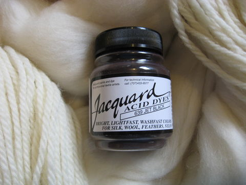 Jacquard,Acid,Dye,,Jet,Black,639,,for,Wool,,Silk,,,Feathers,,Nylon,,and,Other,Protein,Fibers,by,Dye, acid dye, Jet Black, acid wool dyes, acid fiber dyes, Jacquard , Jacquard  Jet Black, vinegar dye, fiber dye, synthetic dye, Jacquard dye, Jacquard Jet Black Dye, BrushCreekWoolWorks, Brush Creek Wool Works