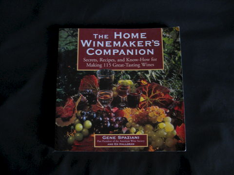 The,Home,Winemakers,Companion,written,by,Gene,Spaziani,winemaking ,wine, Gene Spaziani, winemaking book, wine recipes, Winemakers Companion, fruit wine recipes, wine yeasts, wine book, vinting, vinting book, vinting recipes, BrushCreekWoolWorks, Brush Creek Wool Works
