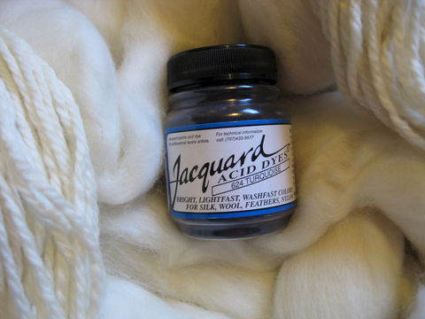 Jacquard,Acid,Dye,,Turquoise,624,,for,Wool,,Silk,,,Feathers,,Nylon,,and,Other,Protein,Fibers,dye, acid dye, turquoise, acid wool dyes, acid fiber dyes, jacquard, Jacquard  Turquoise, vinegar dye, fiber dye, synthetic dye, Jacquard dye, Jacquard Turquoise Dye, BrushCreekWoolWorks, Brush Creek Wool Works