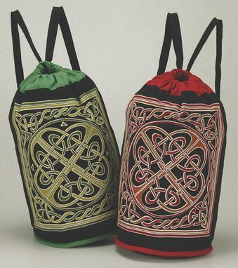 Celtic,Knotwork,Backpack,cotton,backpack, Celtic knotwork, backpack, Celtic Backpack, , tote, bag, BrushCreekWoolWorks, Brush Creek Wool Works
