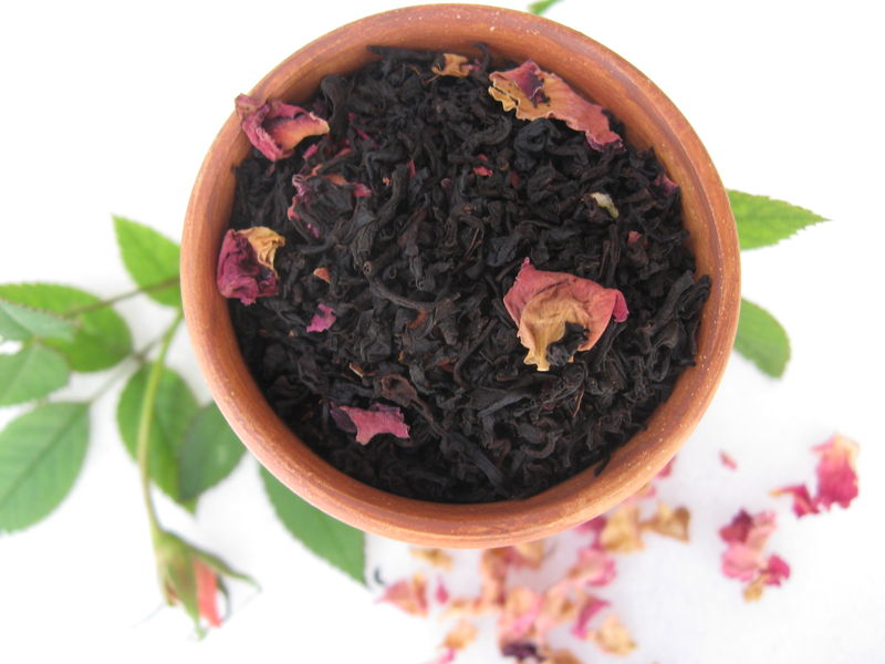Summer Rose Flavored Loose Black Tea, Camellia sinensis - product images  of