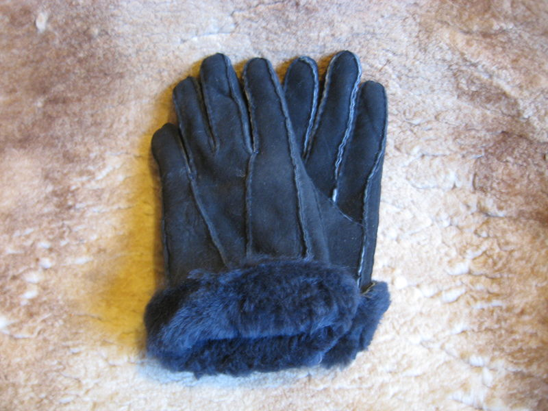Black Suede Sheepskin Gloves - product images