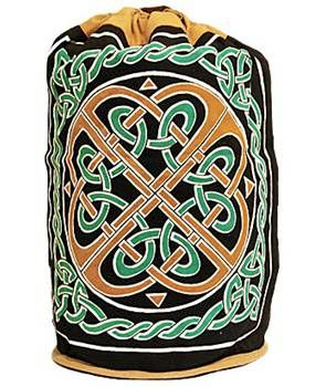Celtic,Knotwork,Backpack,Gold,and,Green,cotton,backpack, Celtic backpack. Celtic knotwork, green backpack, gold backpack, tote, bag, BrushCreekWoolWorks,  Brush Creek Wool Works