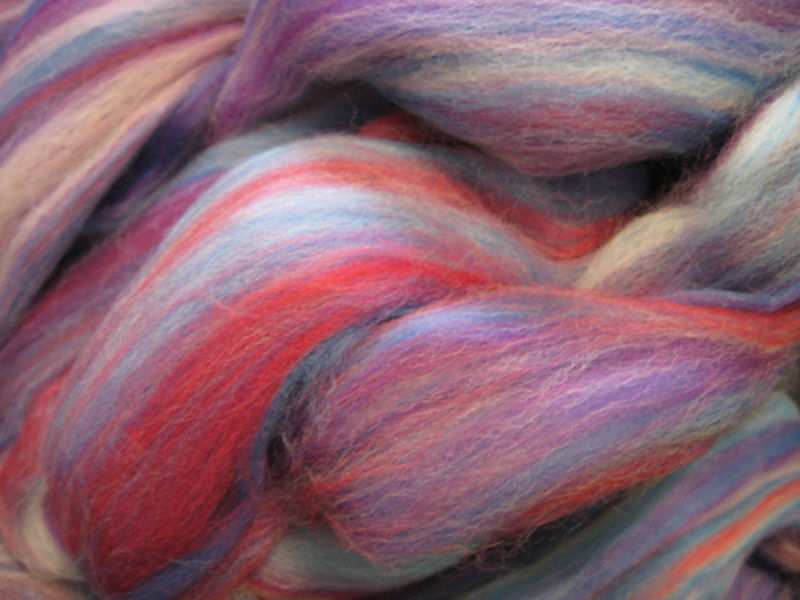 Amethyst Multicolor Merino Wool Roving - product images  of