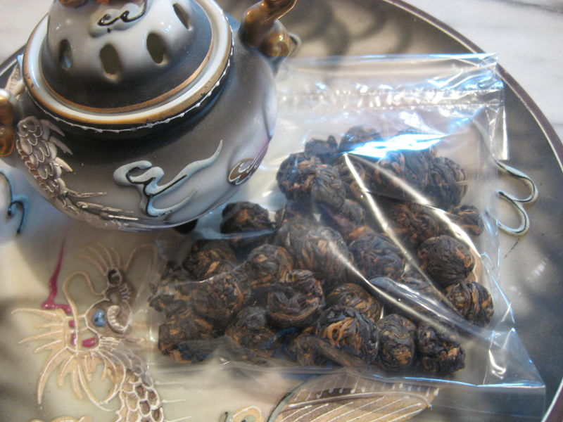 Black Dragon Pearls Black Tea, Camellia sinensis - product images  of