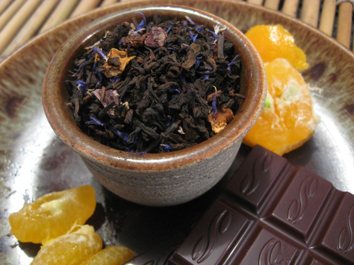 Pu erh Chocolate Orange Black Tea, Camellia sinensis - Brush Creek ...