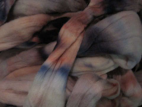 Pink,Impatiens,Hand,Dyed,Merino,Wool,Roving,wool,roving,merino, wool roving, dyed roving, pink impatients, multicolor roving,spinning wool,felting,needle felting, BrushCreekWoolWorks, Brush Creek Wool Works