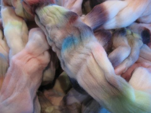 Potpourri,Hand,Dyed,Merino,Wool,Roving,wool,merino roving,hand dyed,multicolor roving,spinning roving ,multicolor wool, hand dyed wool, Potpourri , hand dyed roving,BrushCreekWoolWorks, Brush Creek Wool Works