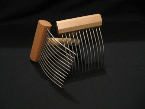 Viking,Wool,Combs,,Single,Row,,by,Indigo,Hound,combs , spinning, carding, wool , wool combs , Viking, Viking Combs , Viking wool combs, wool combing , Indigo Hound , carding wool , wool spinning , BrushCreekWoolWorks, Brush Creek Wool Works