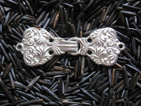 Small,Pewter,Clasp,clasp, pewter ,pewter clasp, sweater clasp, cloak clasp ,clothing clasp, no lead pewter, closure, hook and eye clasp , garb clasp, cape clasp ,metal clasp, BrushCreekWoolWorks, Brush Creek Wool Works
