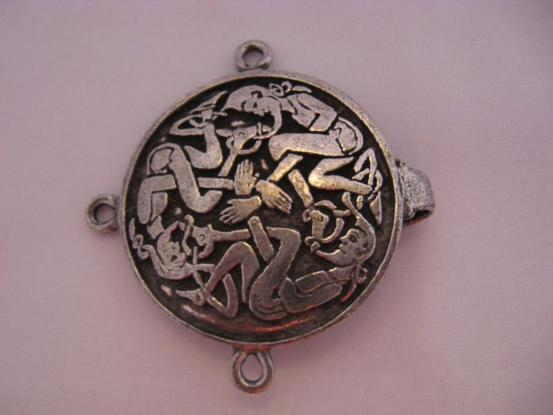 Celtic  Knotwork Pewter Clasp , Elf Design - product images  of