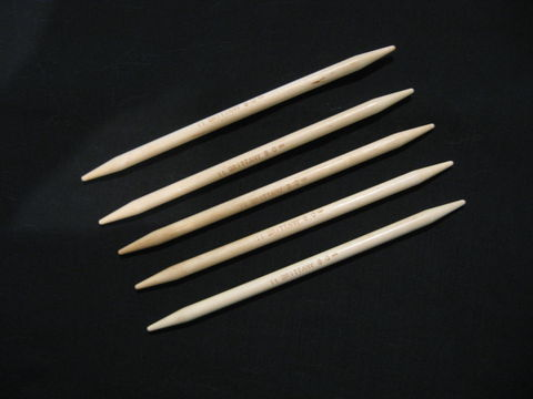 Brittany,Double,Pointed,Knitting,Needles,,,Wood,,7.5,inch,,Set,of,5,,Large,knitting needles, double pointed, Brittany, birch, wood, set, knitting, BrushCreekWoolWorks, Southwestern Pa