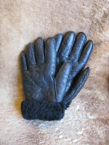Black,Nappa,Sheepskin,Gloves,Small,gloves, sheepskin, nappa, black, shearling, BrushCreek, Southwestern Pa, BrushCreekWoolWorks