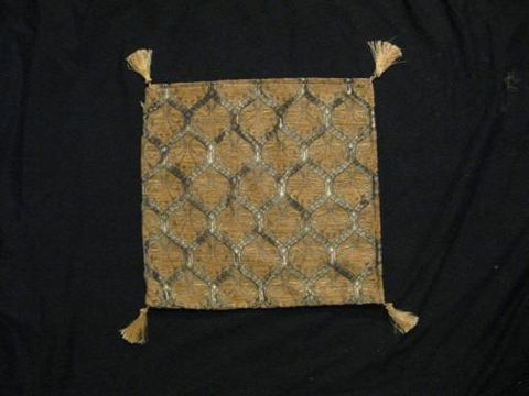 Square,Pillow,Cover,Turkish,,,Lattice,,Cream,,Gold,cotton,acrylic,pillow, square, cover, lattice, tribal, Turkish, cream, gold, BrushCreek, Southwestern Pa, Brush Creek Wool Works