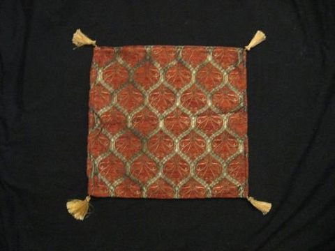 Square,Pillow,Cover,Turkish,Lattice,Rust,Gold,pillow, square, cover, lattice, tribal, Turkish, rust, gold, BrushCreek, Southwestern Pa, Brush Creek Wool Works