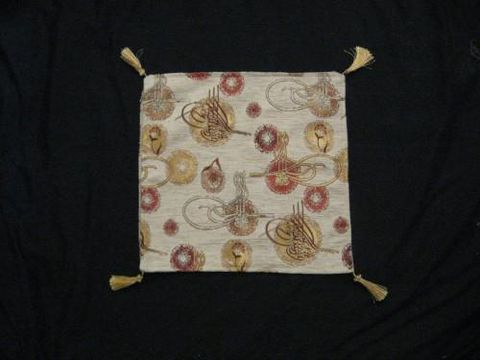 Square,Pillow,Cover,Turkish,Traditional,Design,White,Gold,cotton,acrylic,pillow, square, cover, Turkish, Traditional Design, White, Gold, BrushCreek, Southwestern Pa, Brush Creek Wool Works