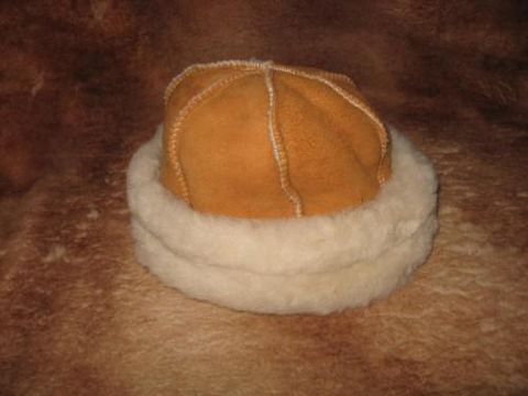 Royal,Round,Sheepskin,Hat,,Medium,hat, sheepskin, suede, round, shearling, clothing, Brush Creek Wool Works, BrushCreekWoolWorks, Southwestern Pa
