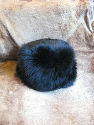 Black,Snowball,Sheepskin,Hat,sheepskin, hat, snowball, black, one size, unisex, Brush Creek, Southwestern Pa, BrushCreekWoolWorks