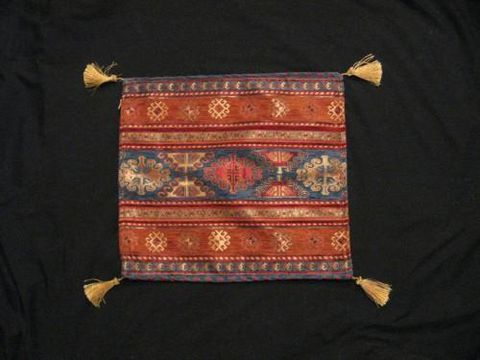 Square,Pillow,Cover,Turkish,Tribal,Geometric,Stripe,Blue,Rust,Red,pillow, square, cover, geometric. stripe, tribal, Turkish, blue, rust, gold, BrushCreek,Wool Works, Brush Creek Wool Works