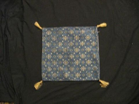 Square,Pillow,Cover,Turkish,Petite,Design,Blue,Gold,pillow, square, cover, Turkish, Petite, blue, Gold, BrushCreek, Southwestern Pa, Brush Creek Wool Works