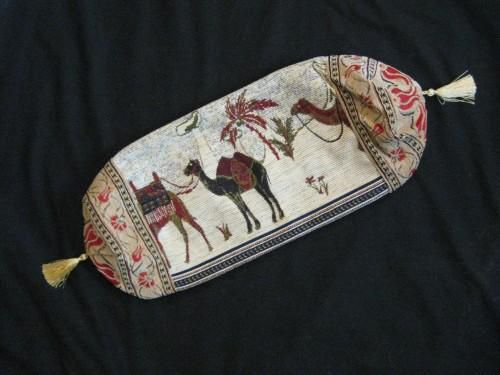 Bolster Pillow Cover Turkish Camel Design Red White Green Cream - product images  of