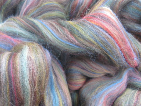 Riverstone,Multi,color,Merino,Wool,Roving,wool, roving, spinning, spinning roving, spinning wool, riverstone, green, green roving, merino roving, multicolor roving, wool roving, BrushCreekWoolWorks, Brush Creek Wool Works
