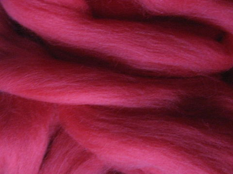 Red,Solid,Color,Corriedale,Wool,Roving,wool, wool roving, spinning roving, red, Colonial, Corriedale, spinning, felting needle felting, fiber arts, BrushCreekWoolWorks, Brush Creek Wool Works