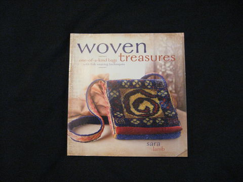 Woven,Treasures,written,by,Sara,Lamb,book, weaving, weaving bags, Pick up weaving, twining, soumak, cardweaving, cut pile weaving, woven treasures, Sara Lamb, knotted pile weaving , weaving book, BrushCreekWoolWorks, Brush Creek Wool Works