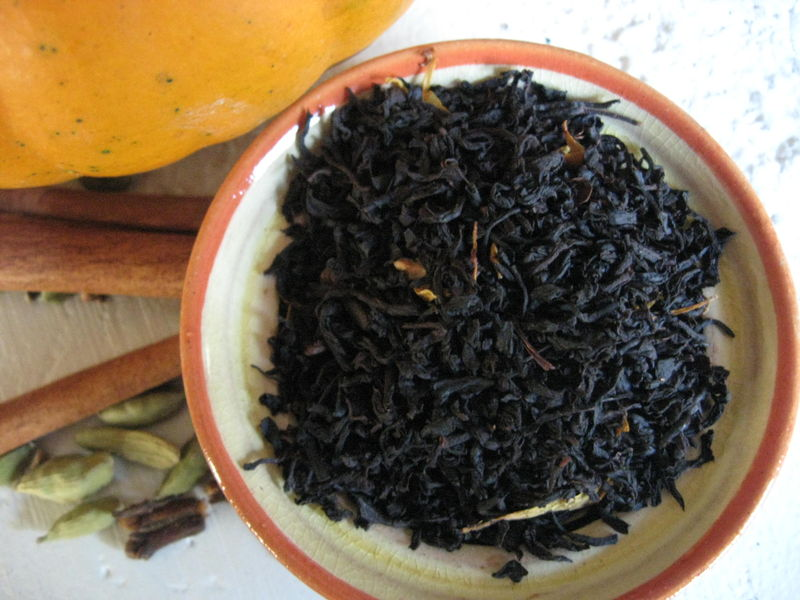 Pumpkin Spice Flavored Loose Black Tea, Camellia sinensis - product images  of