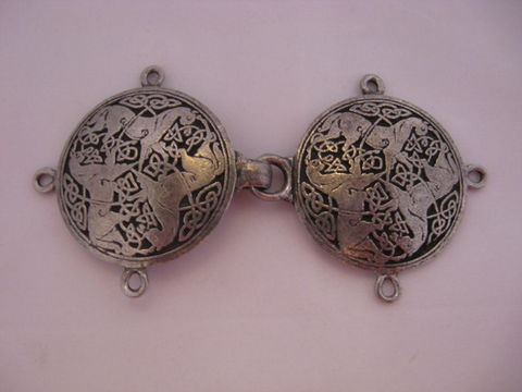 Celtic,Knotwork,Pewter,Clasp,with,Horse,Design,clasp , pewter, Celtic pewter clasp, pewter clasp, lead free pewter, Celtic Horse clasp, Celtic clasp, Celtic knotwork  cloak clasp , pewter cloak clasp , Celtic cloak clasp, horse clasp. BrushCreekWoolWorks, Brush Creek Wool Works