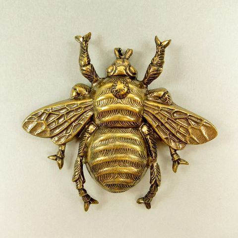 Jan,Michaels,Killer,Bee,Pin,Brooch,Jan Michaels Killer Bee Pin Brooch, bee brooch, bee pin, Jan Michaels pin