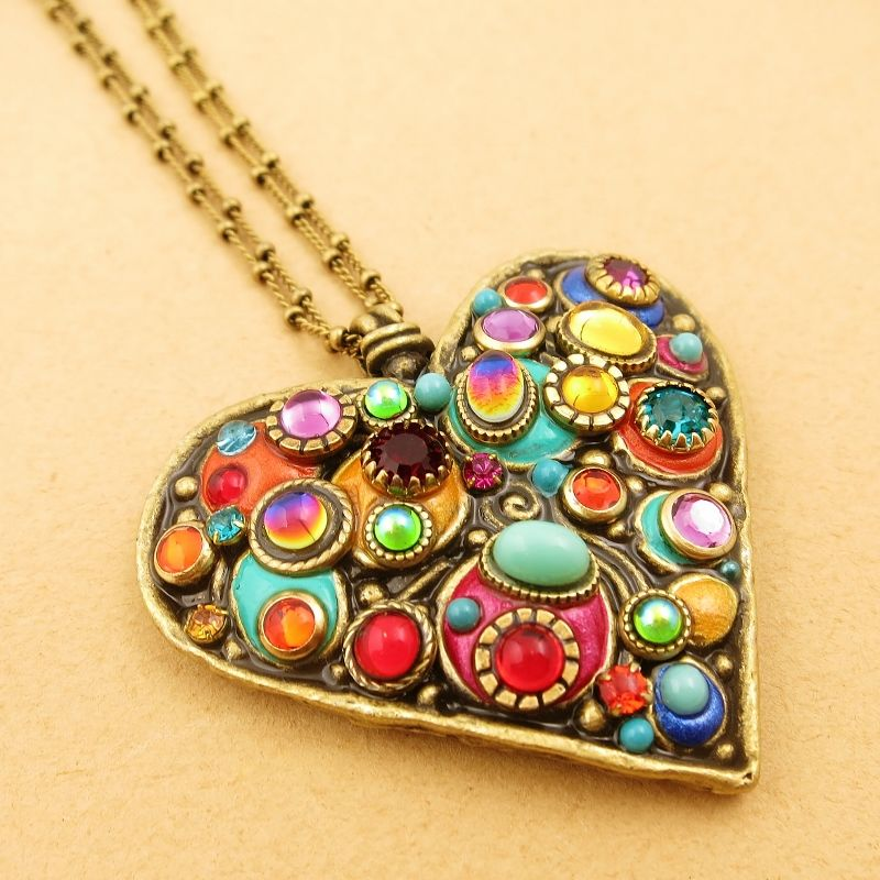 Michal golan confetti large heart pendant necklace talich michal golan confetti large heart pendant necklace product image mozeypictures Gallery