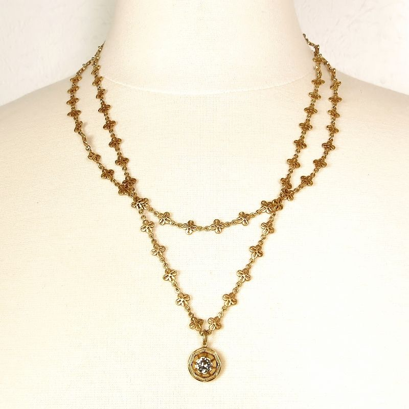 chain grande with cable fleur z double medallion