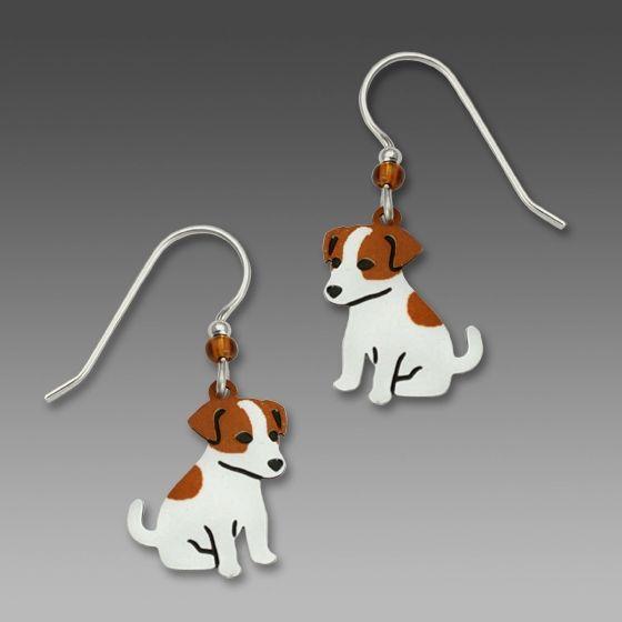 Jack Russell Terrier 925 Silver Dog Earrings 8sRcGXN