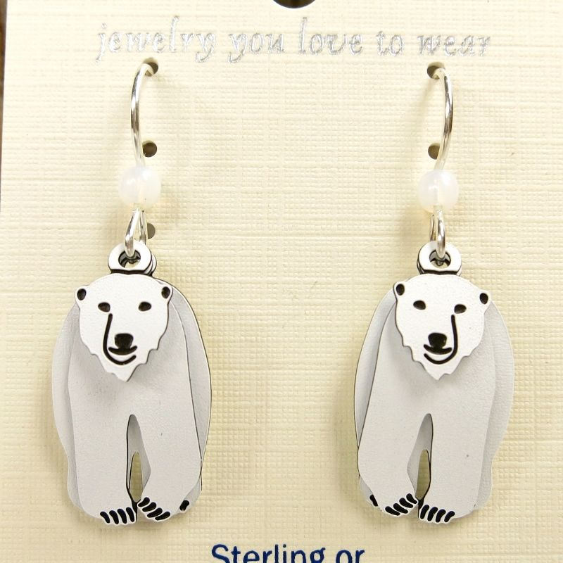 Sienna Sky Earrings Three Part Polar Bear Product Image