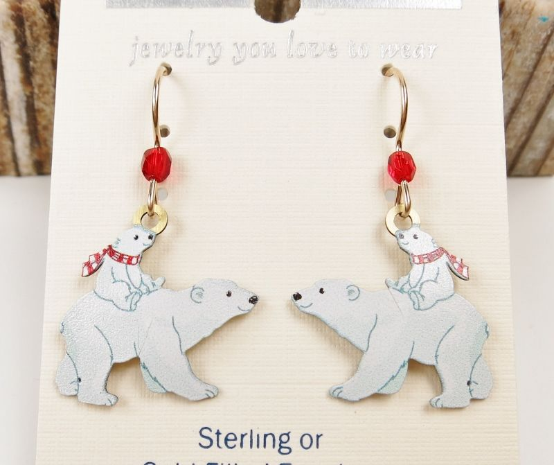 Sienna Sky Earrings Polar Bear And Cub Product Image