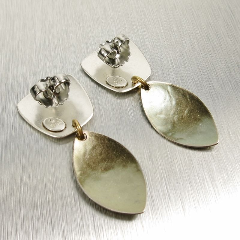 Marjorie Baer Tapered Square With Layered Leaves Earrings